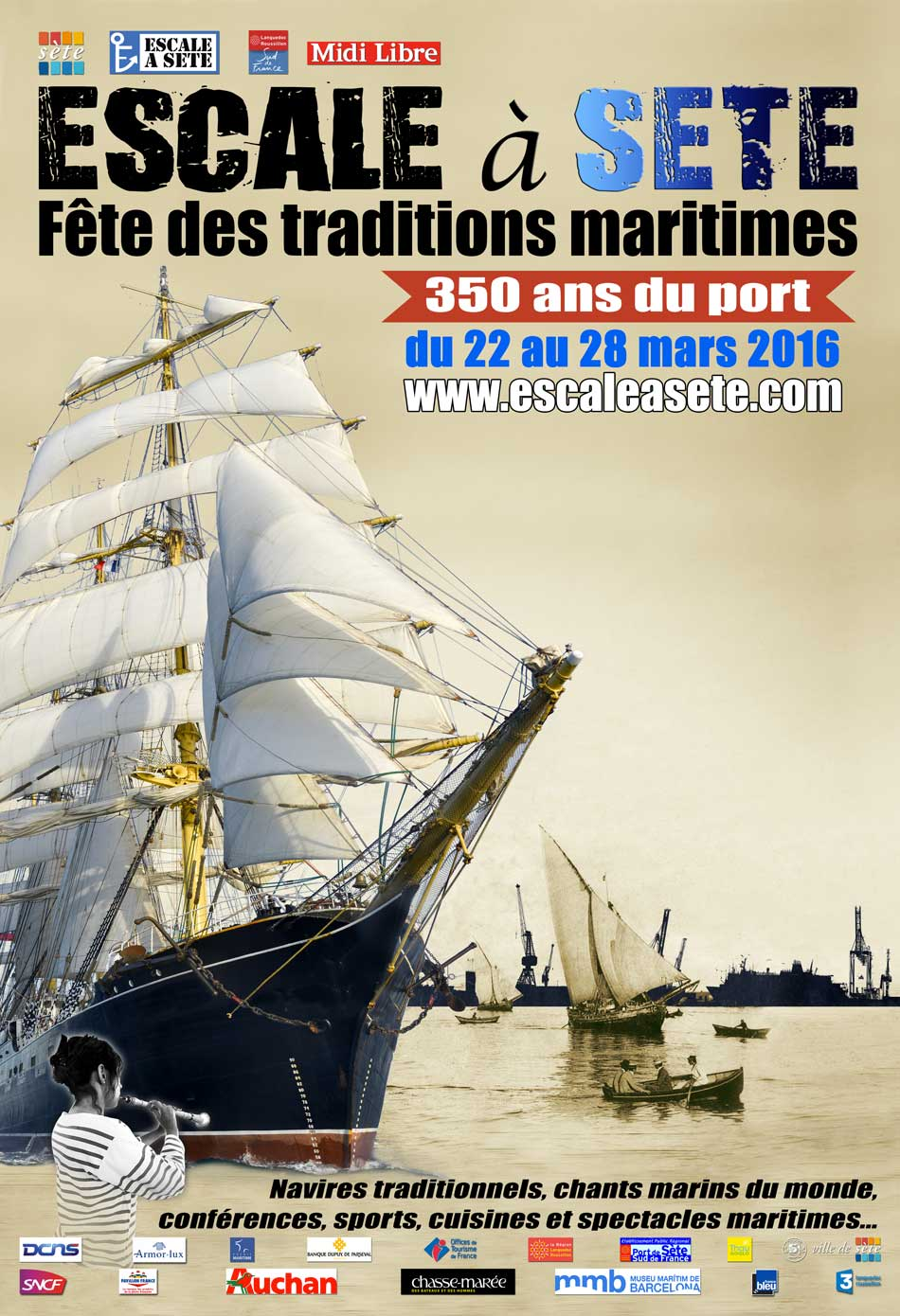 Escale à Sète 2016 traditions maritimes programme et animations