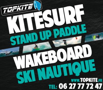 TOPKITE Ecole de Kitesurf Bassin de Thau Location et Stages Wakeboard Stand UP Paddles